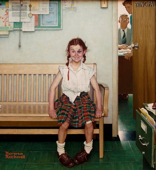ROCKWELL_Norman_The_Young_Lady_with_a_Shiner_1953_Wadsworth_Athenaeum_source_Sandstead_d2h_01